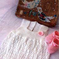 Белый сарафан и пинетки для малышки