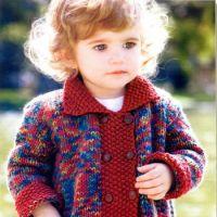 Вязаное пальто для малышки