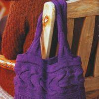 Вместительная сумка фиолетового цвета