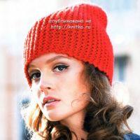 Красная шапочка – колпачок, связанная спицами