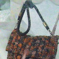 Коричневая сумка из меланжевой пряжи
