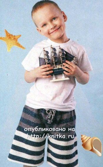 Вязаные шорты и футболка крючком для мальчика - Вяжем сами