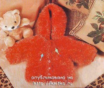 Курточка для девочки. Вязание спицами.