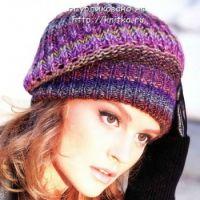 Разноцветная шапочка – берет