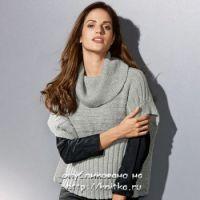 Пуловер – пончо