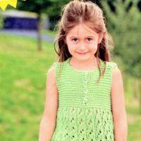 Зеленое платье-сарафан