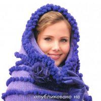 Сиреневый шарф – труба (снуд)
