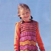 Разноцветное платье для девочки