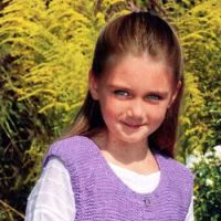 Фиолетовый жилет для девочки