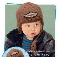 Вязаный шлем для мальчика