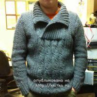 Мужской свитер – работа Ольги
