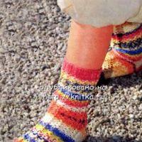 Цветные ажурные носки