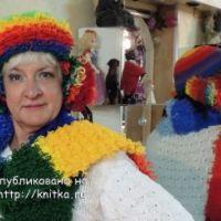Вязаная шапочка и шарф – работы Аллы
