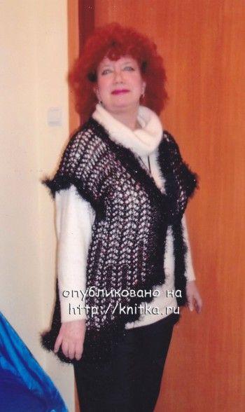 """Ажурный кардиган """"Боярыня"""" работа Ларисы Даренко. Вязание спицами."""