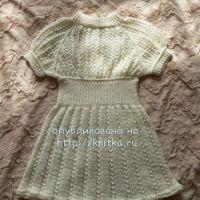 Платье для девочки из микрофибры