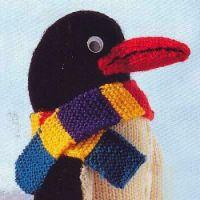 Вязаная игрушка пингвин Пит