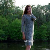 Вязаное ажурное платье – работа Аллы