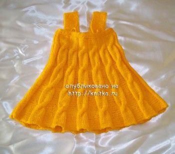 Сарафан для девочки 2-3 лет. Вязание спицами.