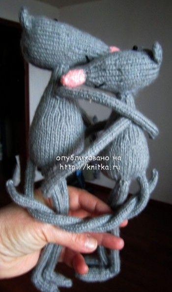 Вязаные игрушки – работы Наталии. Вязание спицами.