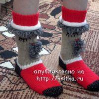 Носки – дед морозы