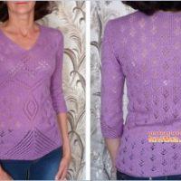 Фиолетовый джемпер – работа Марины