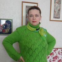 """Свитер-туника """"Зеленые листья"""""""