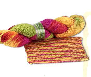 Разнообразные виды пряжи. Вязание спицами.