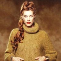 Вязание женского свитера спицами