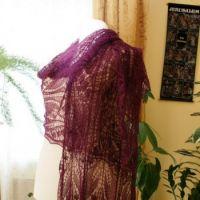 Шикарная шаль спицами