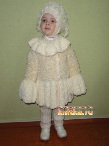 """Костюмчик для малышки """"Снегурочка"""",  Вязание для детей"""
