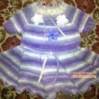 Вязаное платье для девочки – работа Валентины