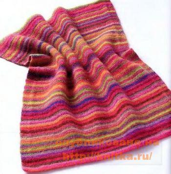 Валяное одеяло. Вязание спицами.