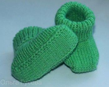 МК вязание пинеток без швов. Вязание спицами.