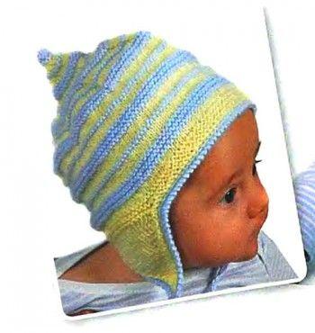 Шапка с ушками для малыша