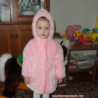Пальто для девочки из травки