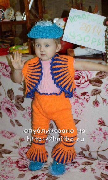 "Новогодний костюм ""Гномик"". Вязание спицами."