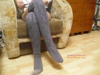 Вязаные носки и гольфы. Работы Ольги. Вязание спицами.