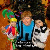 Вязаные новогодние костюмы – работы Екатерины