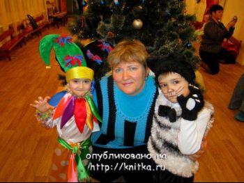Вязаные новогодние костюмы – работы Екатерины. Вязание спицами.