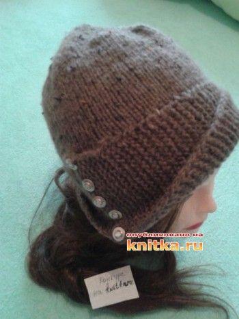 Женская шляпка РОБИН спицами