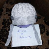 Шапочка-шлем для мальчика
