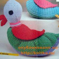 Вязаная игрушка – утка