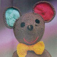 Вязаная игрушка – мышка