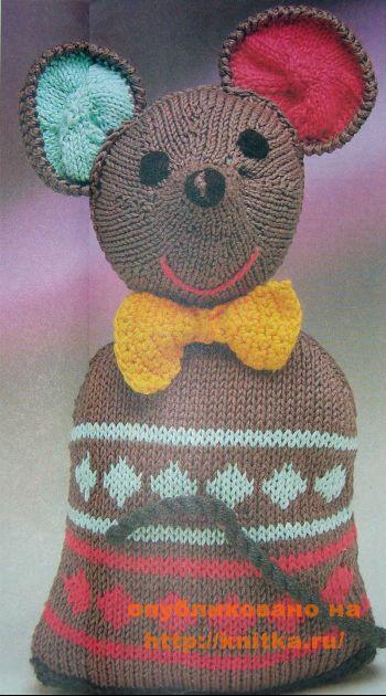 Вязаная игрушка - мышка