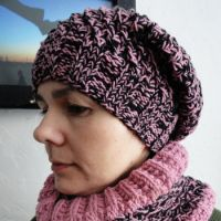 Шапка с шарфом-снуд
