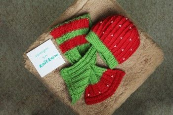 Шапочка и шарф – работа Элен. Вязание спицами.