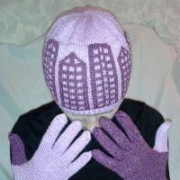 Шапка «Городские огни» и перчатки «день ночь»